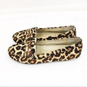 Michael Kors • Leopard Calf Hair Penny Loafer Flat